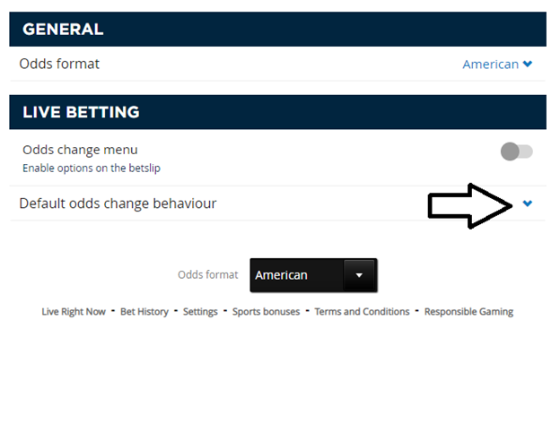 Approving odds change on a bet can you bet on trackside online